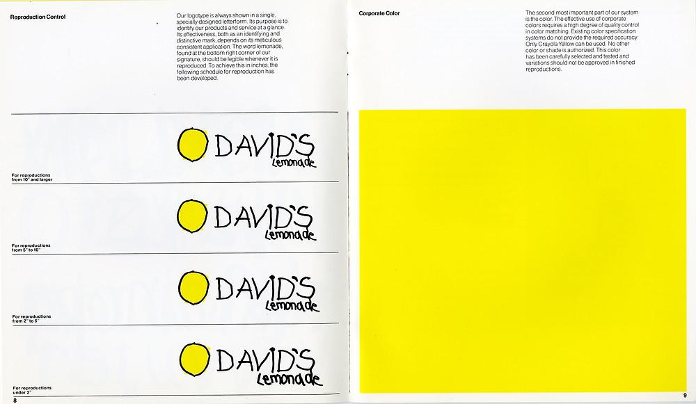 David's Lemonade is an icon in corporate identity branding.