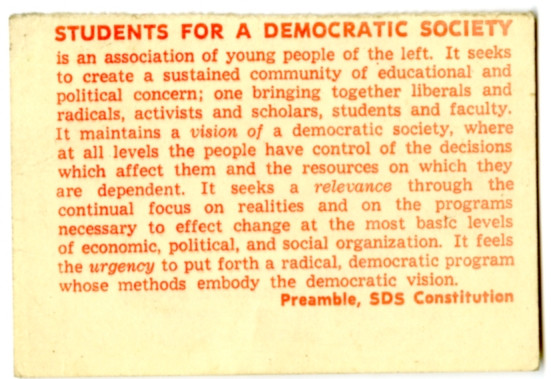 Student for a democratic society