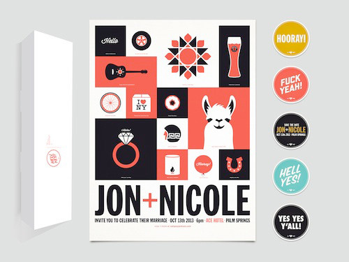 wedding invitation design by Jon Jackson