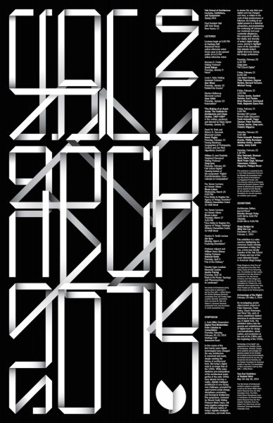 Spring 2014 Lectures, Exhibitions and Symposium Poster