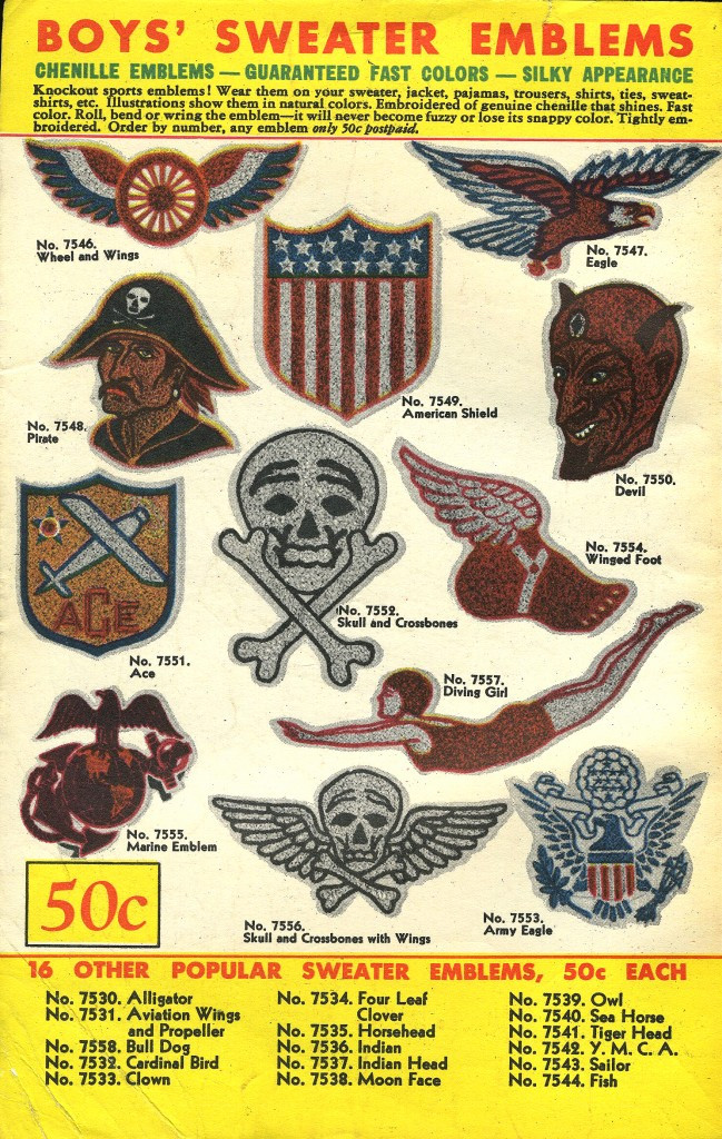 Boys' sweater emblems