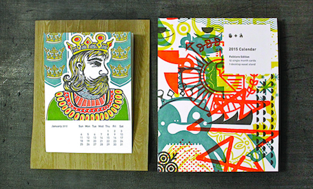 Folklore & Letterpress: A Beautiful Calendar by Studio on Fire