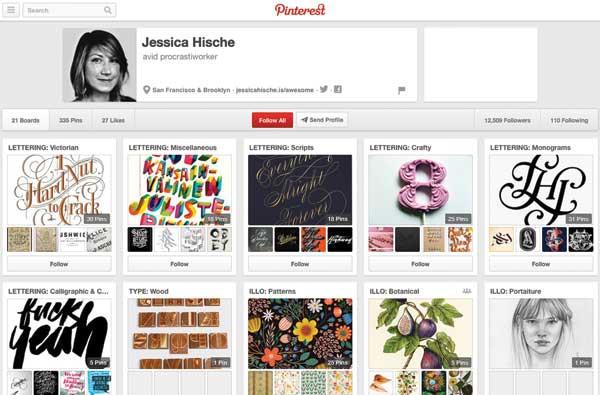 Jessica Hische's Pinterest