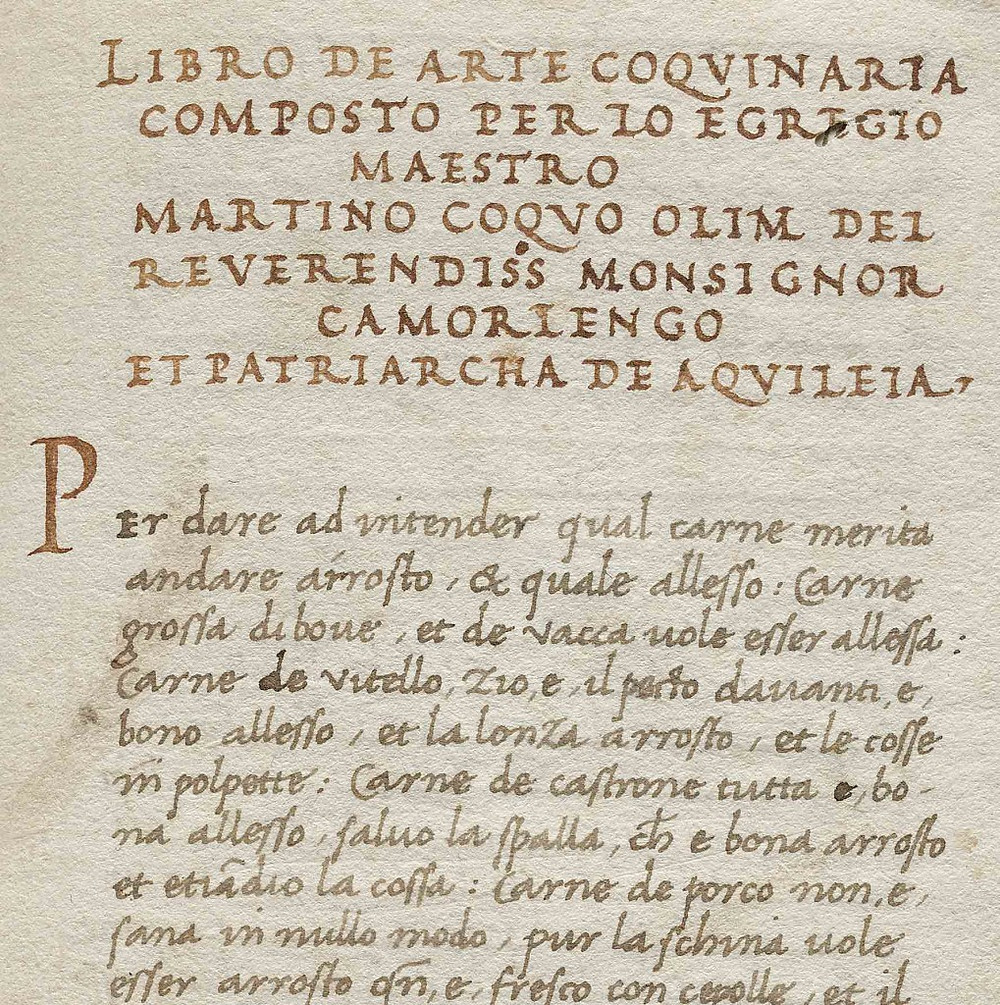 Martino cookbook manuscript