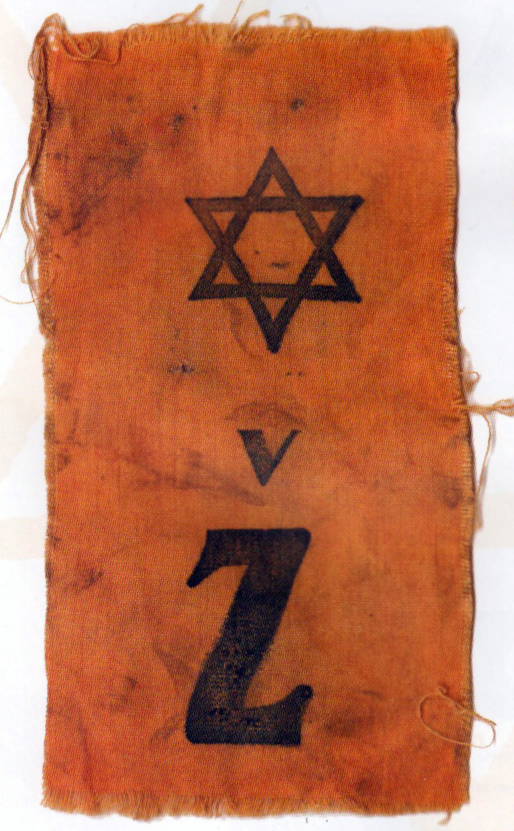 Badge worn by Zagreb, Croation Jews (Zidov) starting in May 1941.