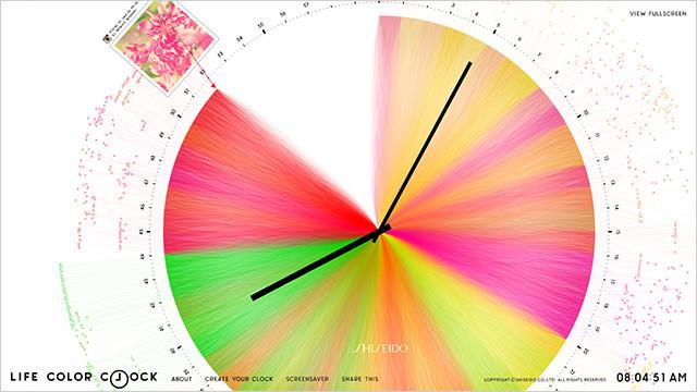Life Color Clock, via Notcot: http://www.notcot.org/post/55546/