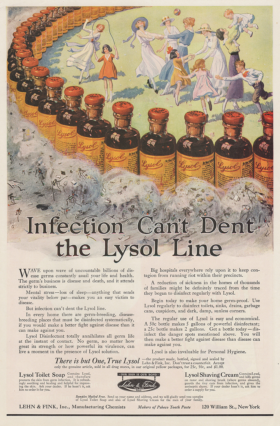 Infection can't dent the Lysol line