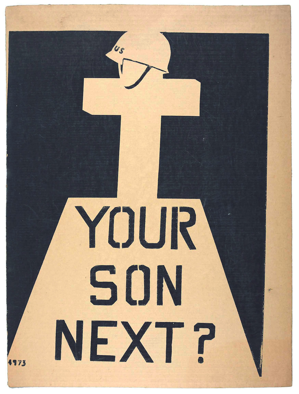 """Your Son Next?"" by the Berkeley Political Poster Workshop, 1970. Photograph used by permission from the Shapero Modern, London, U.K."