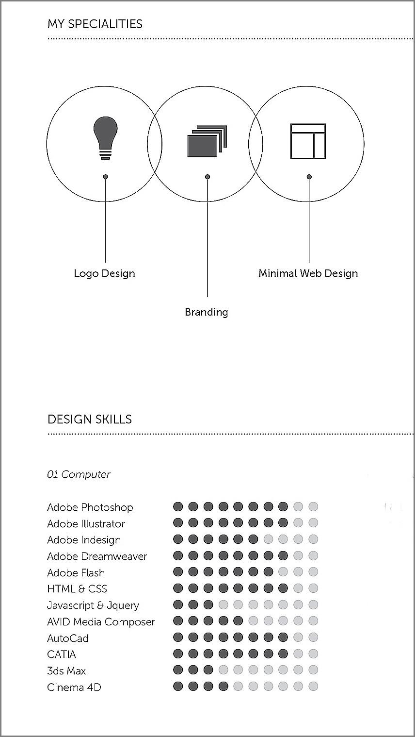 designer's resume template