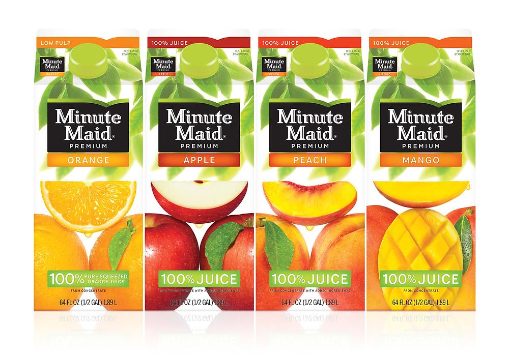 Minute Maid- Orange, Apple, Peach, Mango