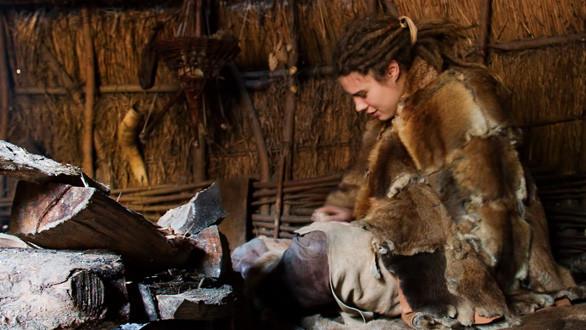 photo: a girl in mesolithic wardobe, flickr member hans s.