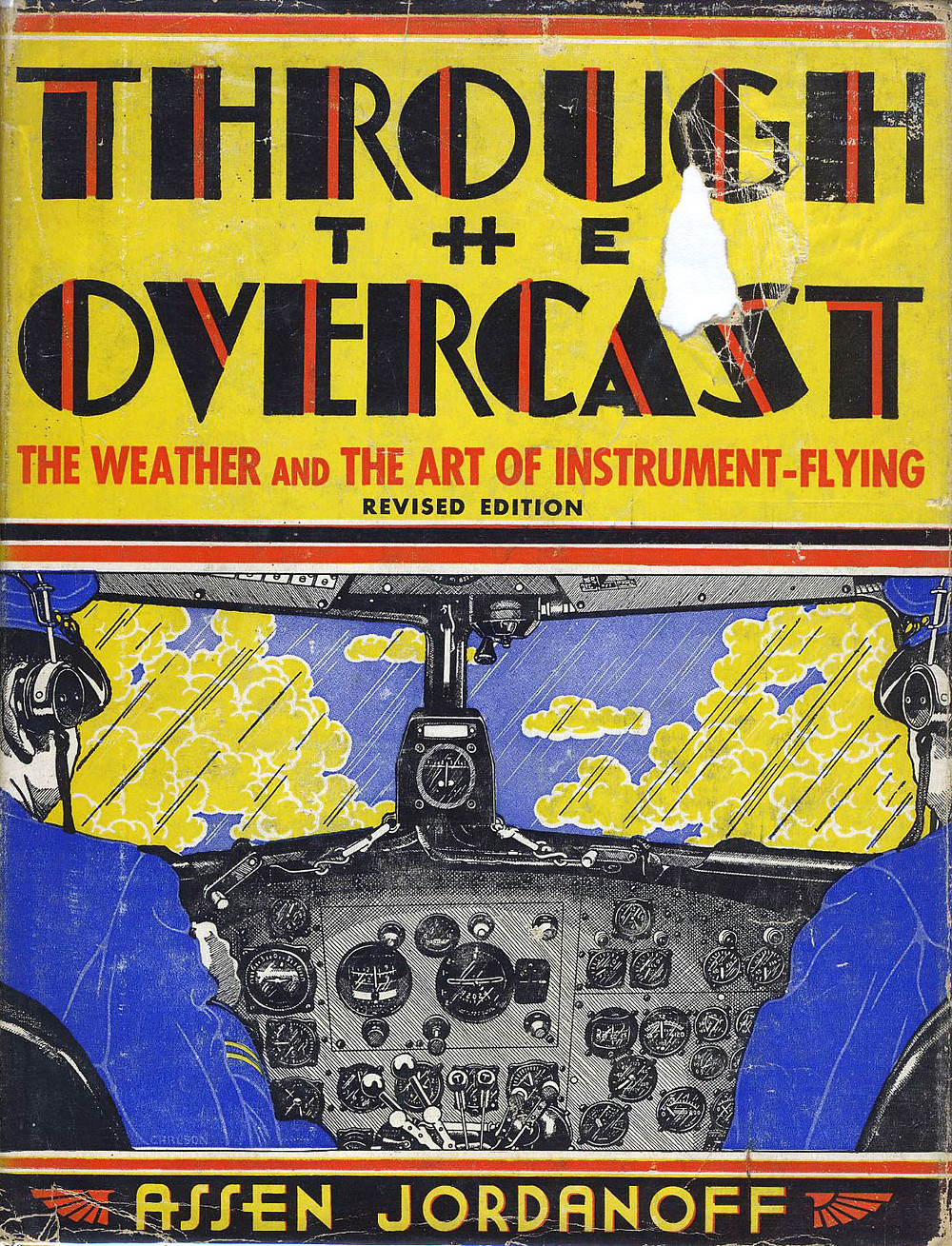 "Dustjacket of ""Through The Overcast"" 1938 by Carlson."