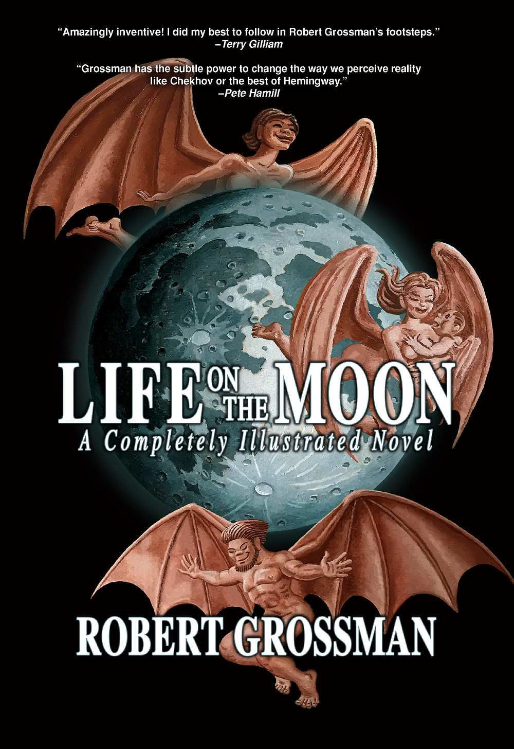 Robert Grossman completed his illustrated novel about the Great Moon Hoax.