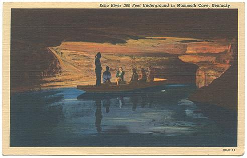 (pg 110) _Echo River 360 Feet Underground in Mammoth Cave, Kentucky_ Teich OB-H147, 1941
