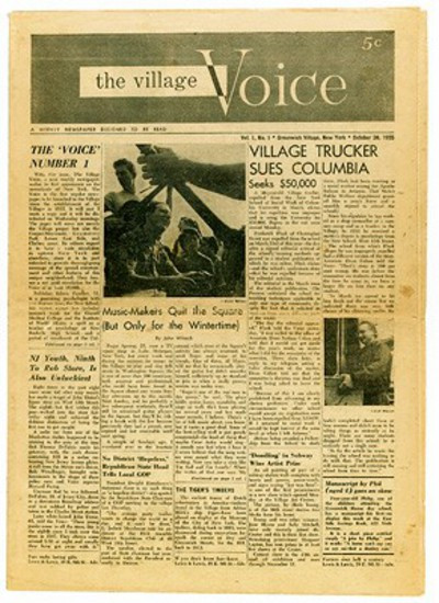 The Village Voice first issue, 1955
