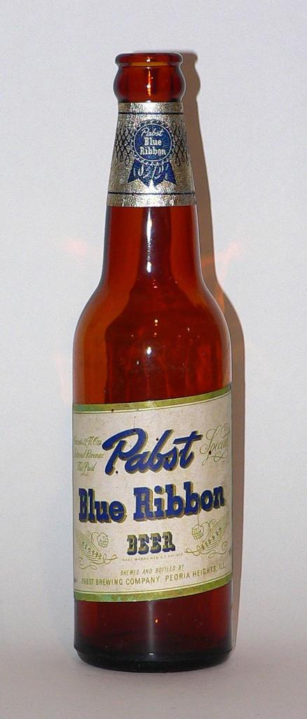 1940s Pabst Blue Ribbon bottle
