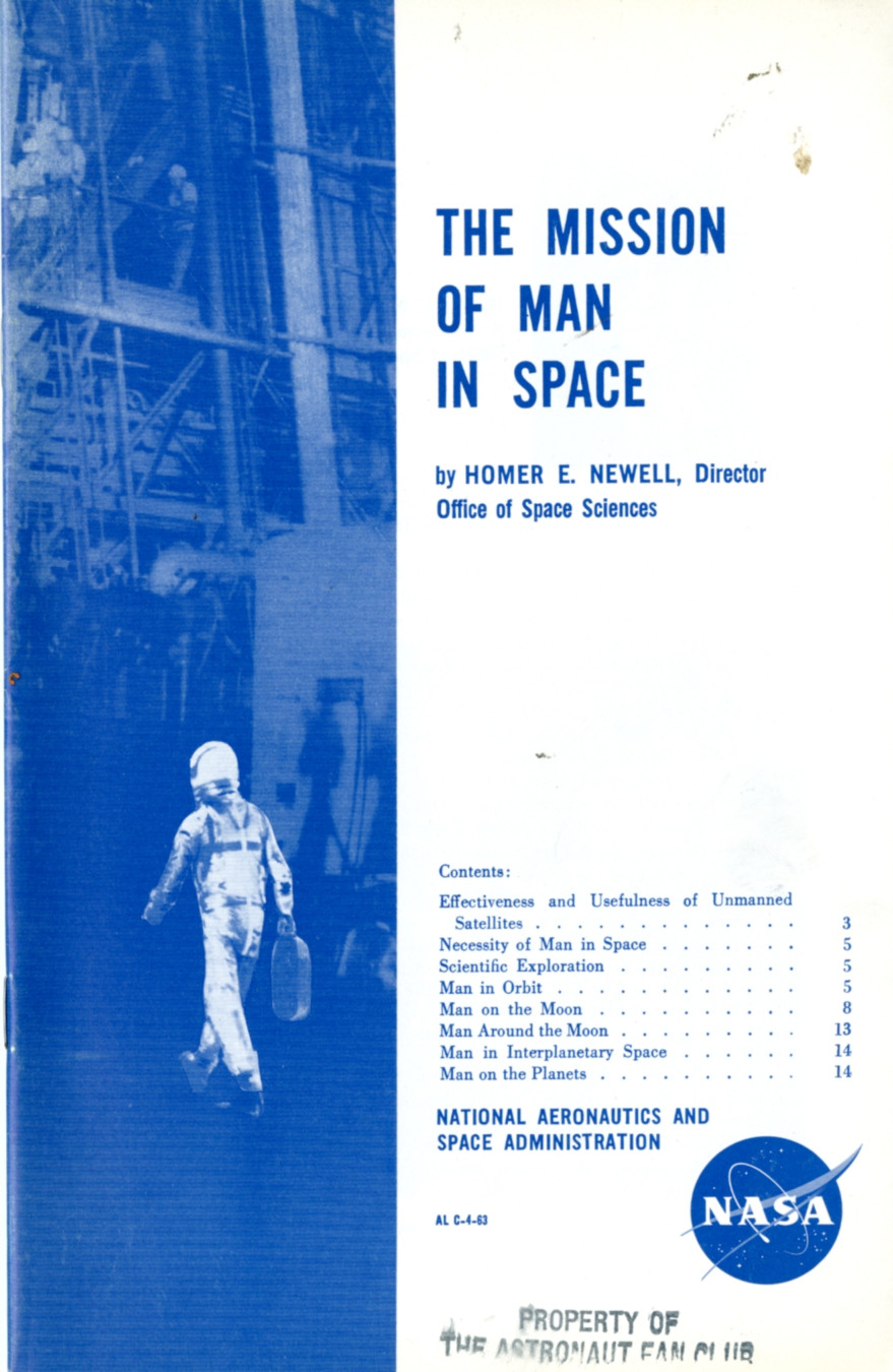 The mission of man in space
