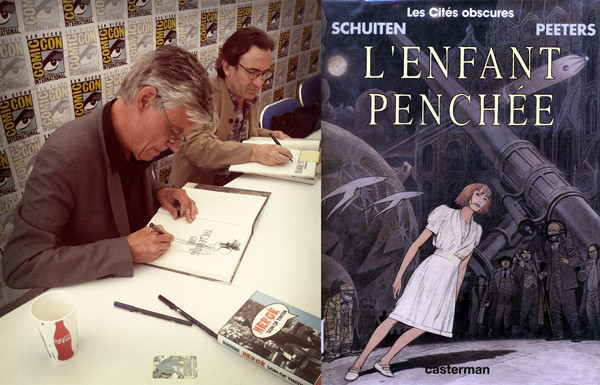 "Artist François Schuiten and author Benoît Peeters, two of many international guests, were on hand to autograph the latest American version of their ""Cités Obscures"" graphic novel series."