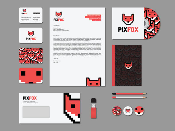 Letterhead examples from Pixfox