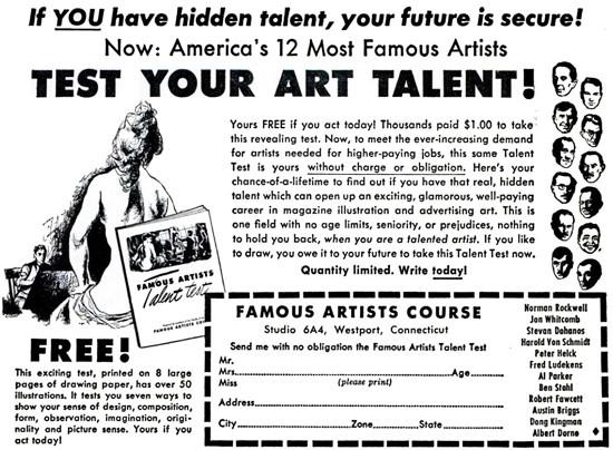 TestYourTalent 1954; Elwood Smith; famous illustrators