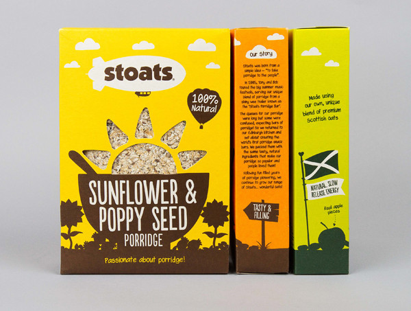 iotd_0711_stoatsPackaging and brand identity for Stoats, a Scottish oats company by Robot Food.