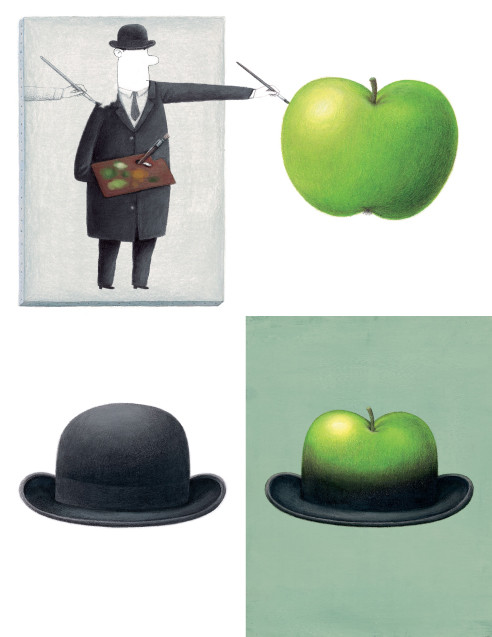 magrittes apple