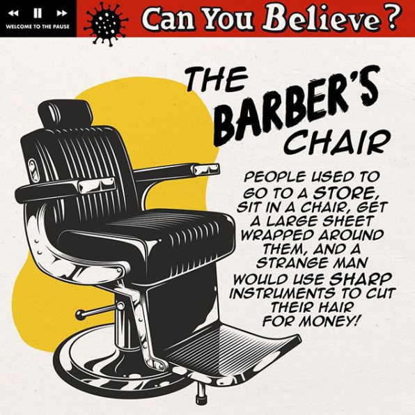 Can you believe? The barber's chair