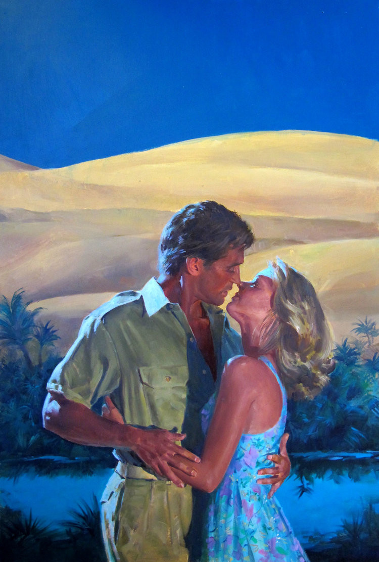 Couple kissing painting