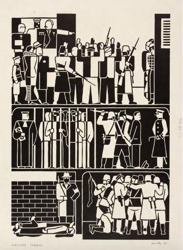 """Gerd Arntz. """"White Terror,"""" 1932."""