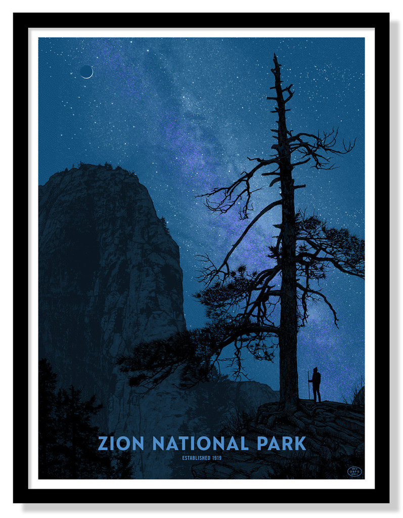 'Zion National Park' (24″ x 32″ Limited Edition of 125) by Dan McCarthy