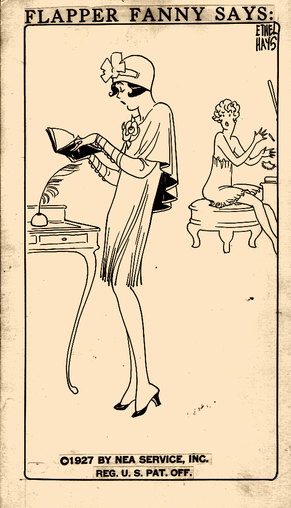 "Flapper Fanny by Ethel Hays, 1927 ""A flapper's diary is just a scrap book."""