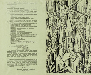 Feininger Manifesto 1919