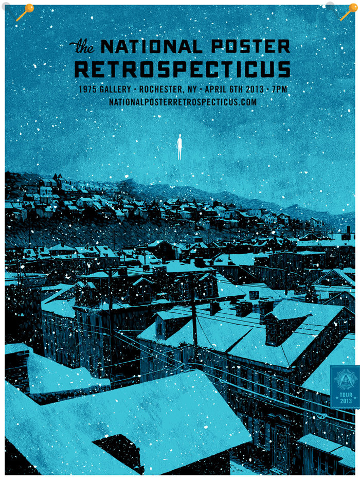 National Poster Retrospecticus tour poster by Daniel Danger