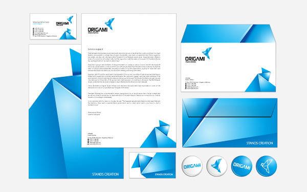 Letterhead examples: Mirza origami 2
