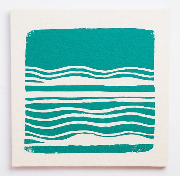 "Erin Flett ""Wind"" Wall Print in Teal"