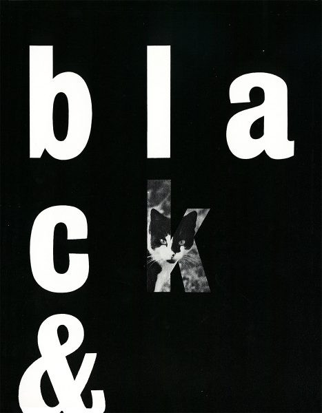 black and white Paul Rand