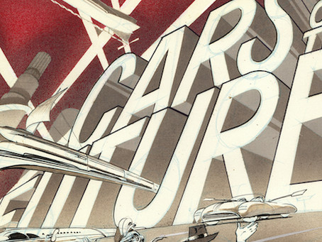 "PreDigital, CrafTint Duo-Shaded, BenDay Zip-a-Toned, Rub-Down Lettered ""CARtoons"" Comics Art"
