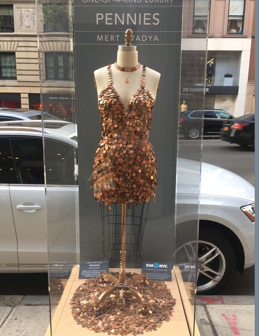 One-of-a-Kind Luxury on Madison Avenue golden dress