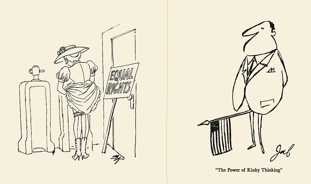 """B. Kliban, 1966 and James """"JAF"""" Frankfort, 1961"""