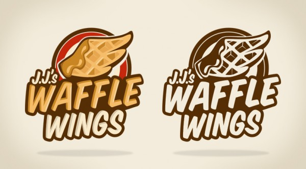 waffle wings logo illustration design; simplicity in design