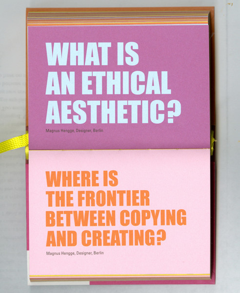 What is an ethical aesthetic? Where is the frontier between copying and creating?