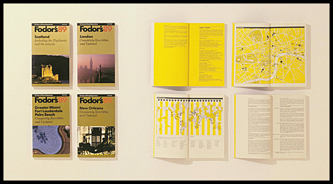 Vignelli 1988 Fodors Travel Guides