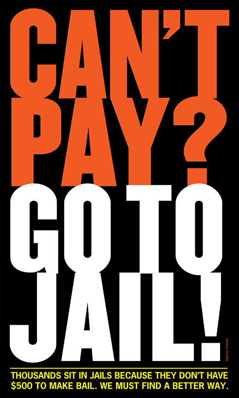 Seymour Chwast - can't pay? go to jail