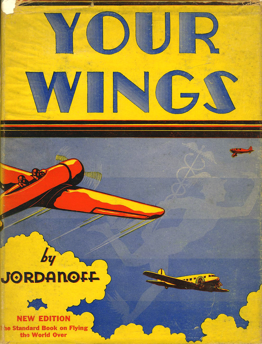 "The dustjacket of ""Your Wings"" 1936 illustrated by Frank L. Carlson."
