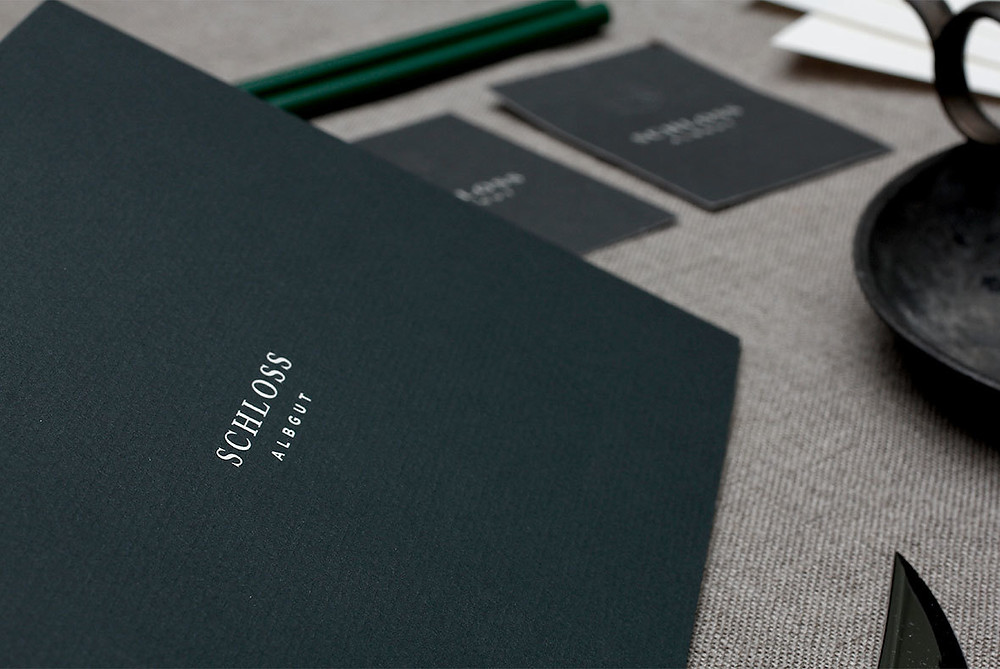 Branding identity for Schloss Albgut, a castle in Germany. Design by HOCHBURG Design, via Behance: http://bit.ly/1qtLP1i