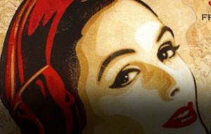 Shepard Fairey's Densely Collaged Relief