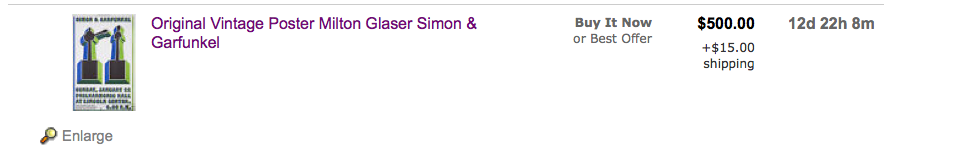Milton Glaser's eBay