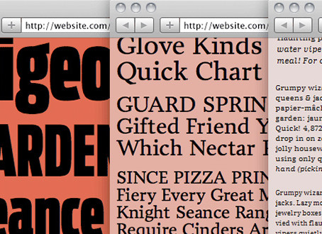 Today's Obsession: Web Type