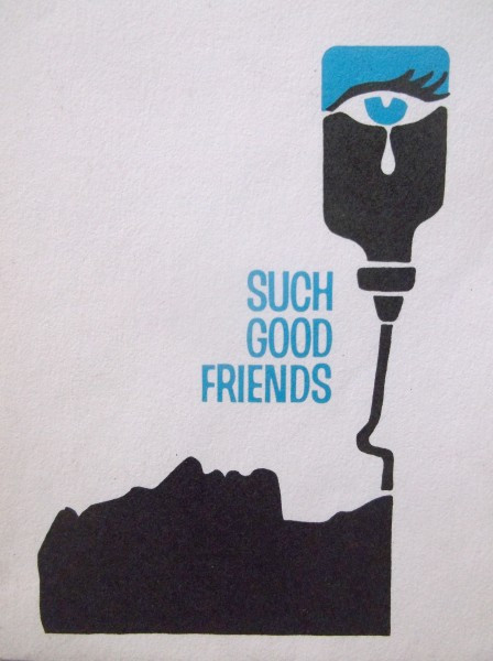 Record's sketch for Such Good Friends, a 1971 film by Otto Preminger.  Saul Bass designed the released poster and titles.