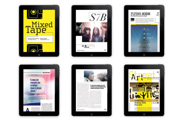 A Capaella, an interactive iPad magazine, combines music with editorial content.